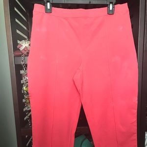 Isaac Mizrahi Stretch Ankle Pant Coral like new